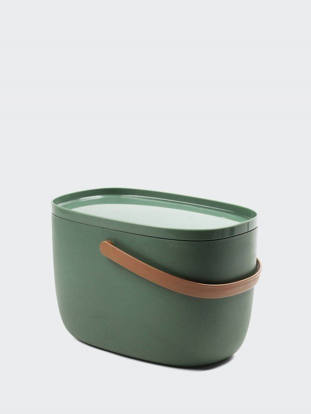 QUALY 手提式置物箱 7L x 綠