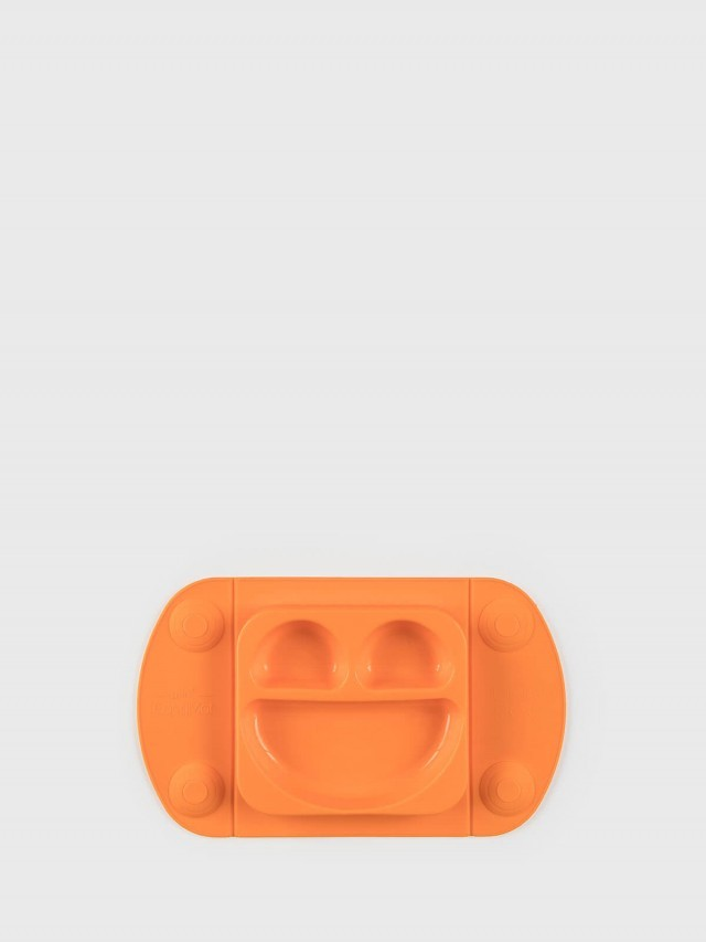 EasyTots EasyMat Mini 防滑矽膠餐盤組 - 甜橙橘