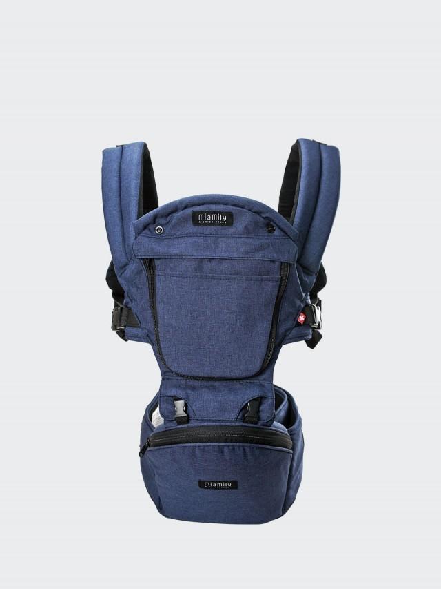 MiaMily 健康護脊坐墊型嬰兒背帶 - 丹寧