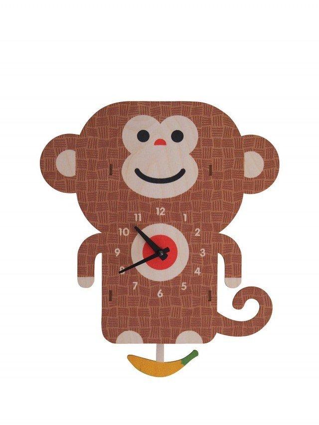modern moose 猴子 3D 立體擺鐘