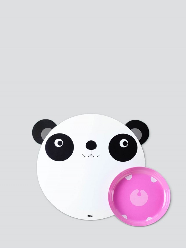 DOIY HUNGRY MATS PANDA 兒童餐墊組 - 熊貓愛吃