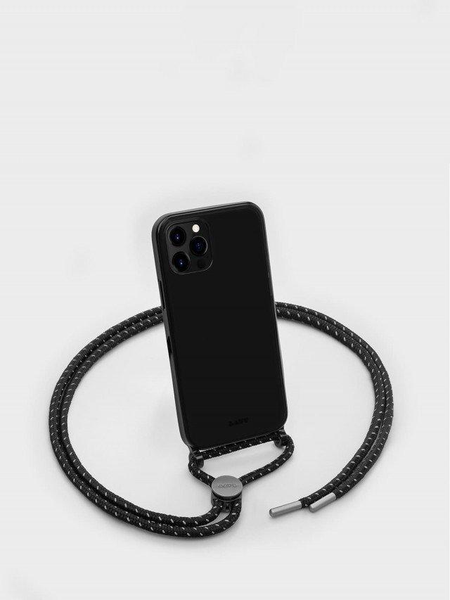 LAUT CRYSTAL - X 系列 繩索背帶手機殼 - 透黑 ( iPhone 12 series )