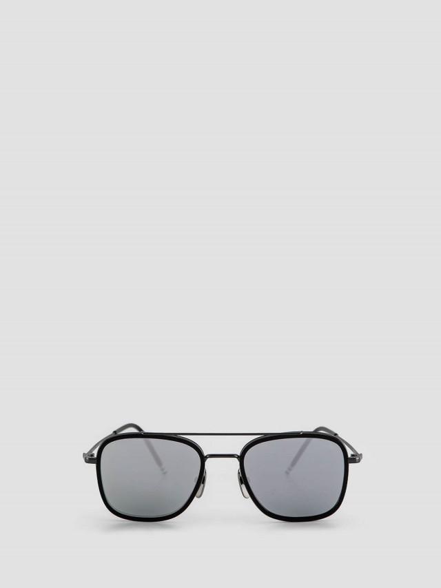 THOM BROWNE 黑色金屬框太陽眼鏡