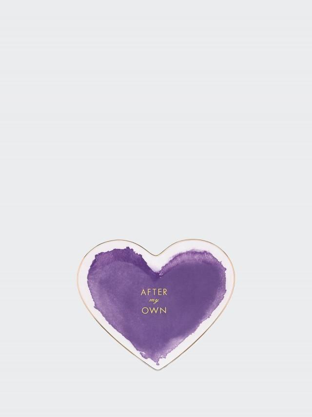 kate spade 水漾世界心形盤 - 紫色 17.1 cm