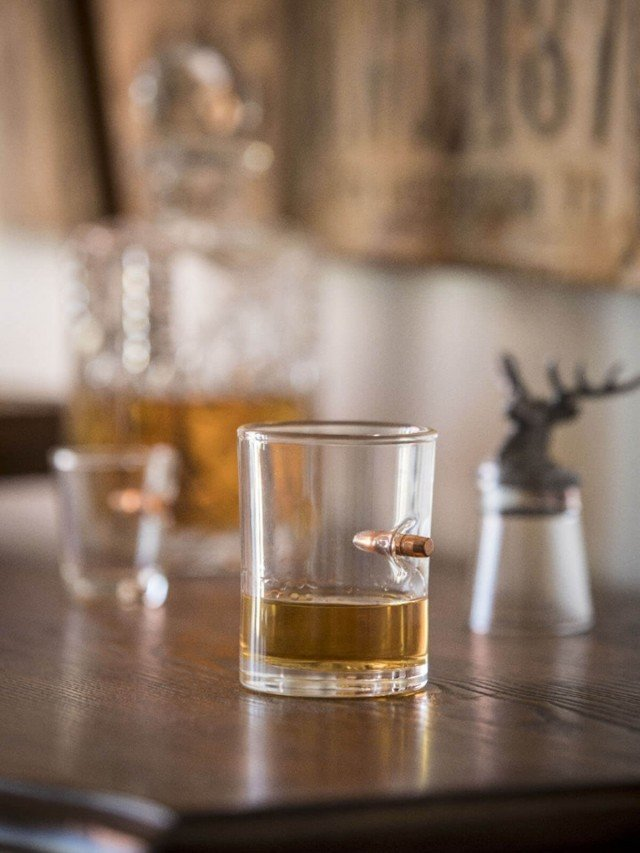 Lucky Shot 308 子彈手工玻璃 whisky 杯