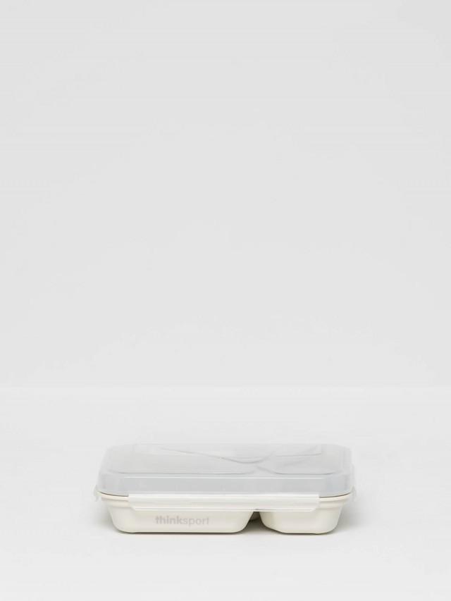 thinkbaby 無毒不鏽鋼兒童餐盤套組 - 白色