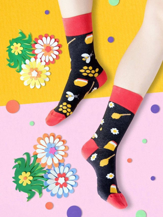 sokker 甜蜜花蜂 4 分之 3 襪