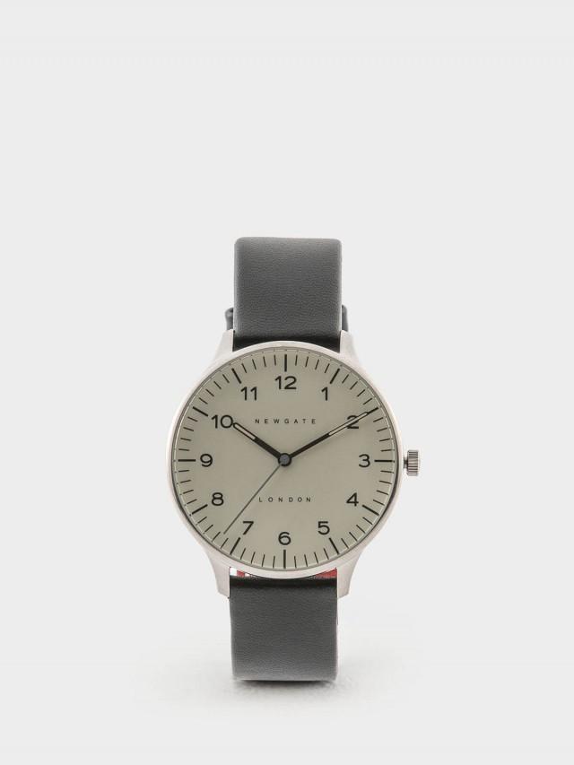 NEWGATE BLIP 經典數字 / 紳士黑 / 皮革錶帶 40mm