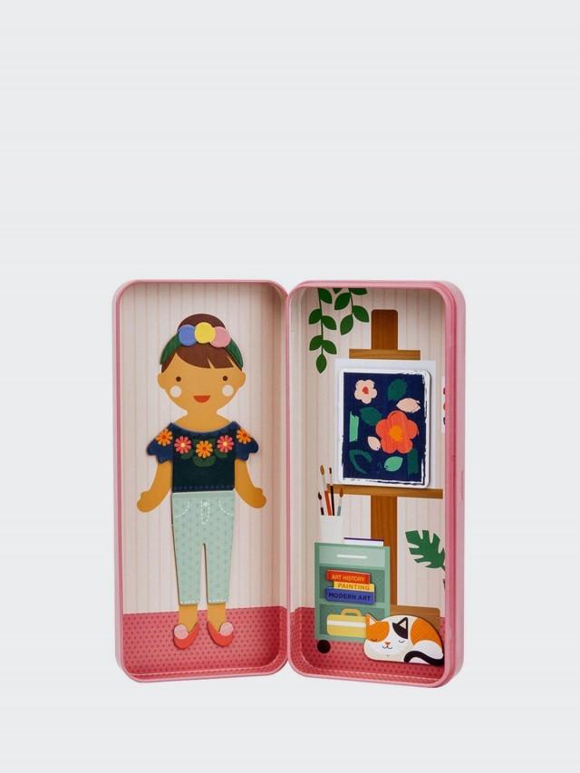 petit collage 隨行磁鐵盒 - 藝術女孩