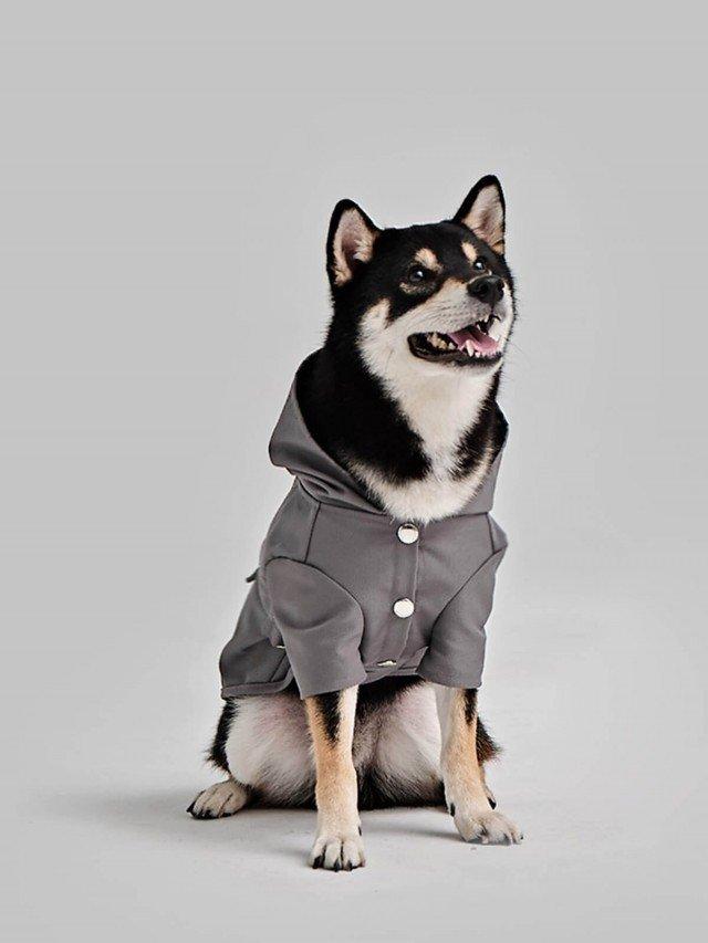 PEHOM 可調節式防潑水雨衣 - 灰