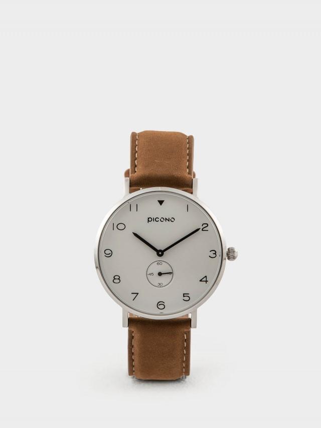 PICONO SPY S 系列 - 真皮錶帶手錶 - 簡單白