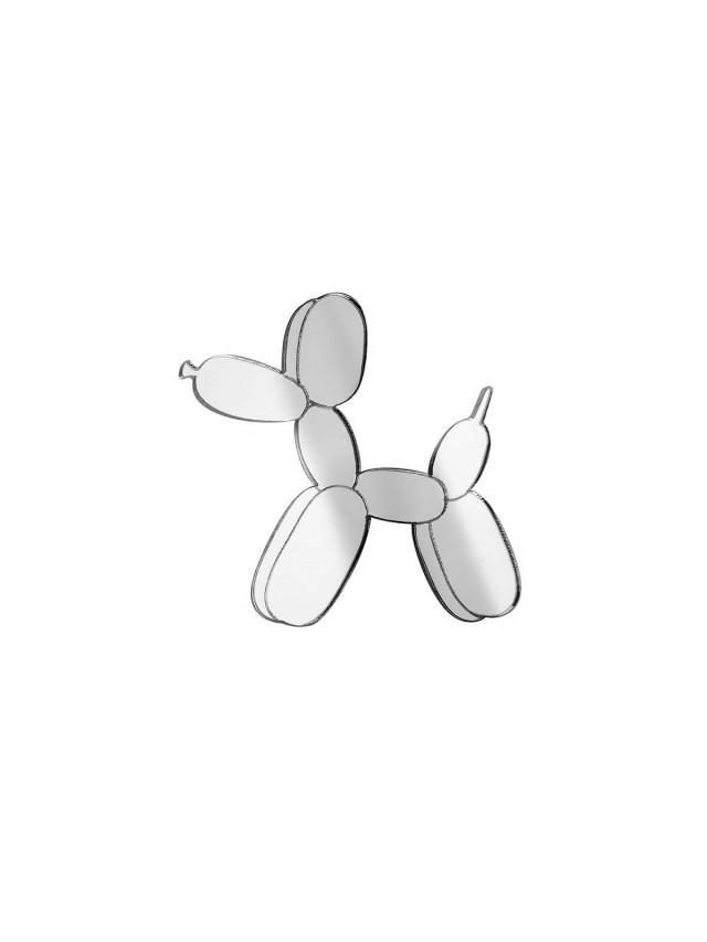 MONOLAMA 鏡面反光材質氣球狗別針 - 銀色