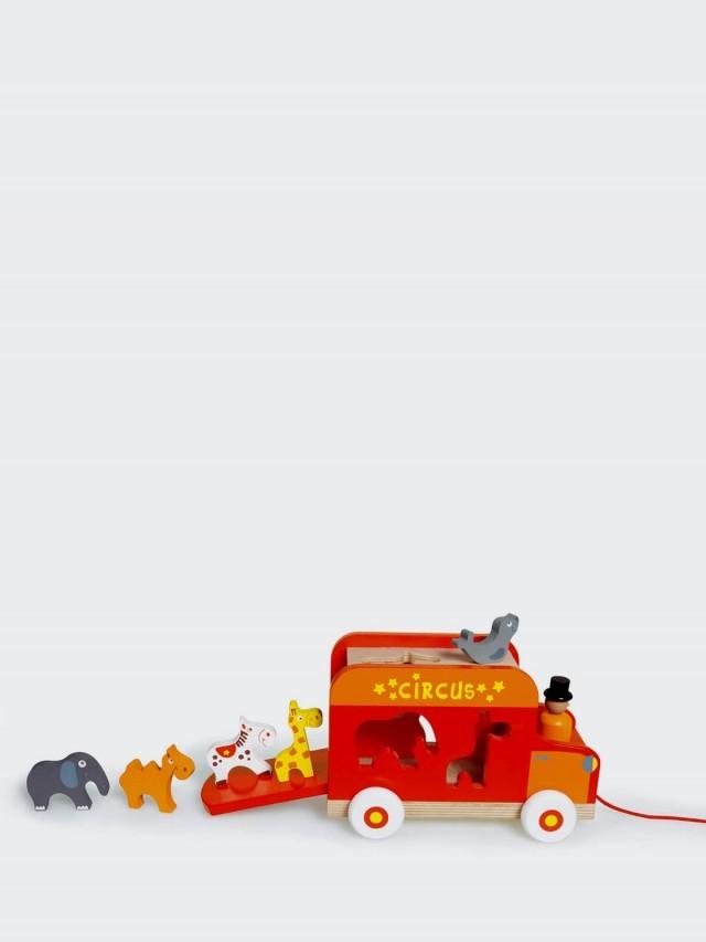 Scratch EUROPE 馬戲團分類積木拉車