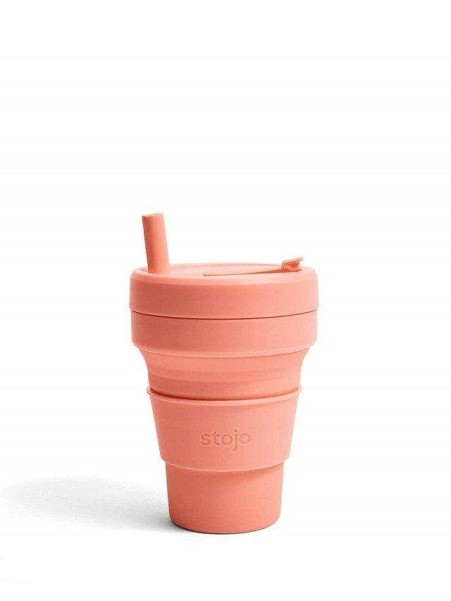 stojo 折疊伸縮杯 16oz - 杏桃橘