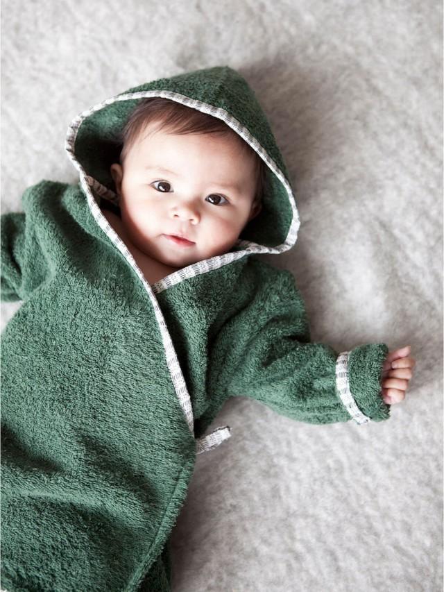 NANAMI 寶貝浴袍 - 寶寶款 - 深綠色