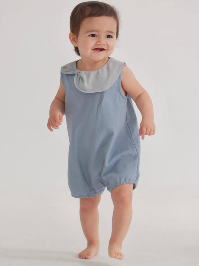 baby baby cool 泡泡牛仔包屁褲 x 水藍