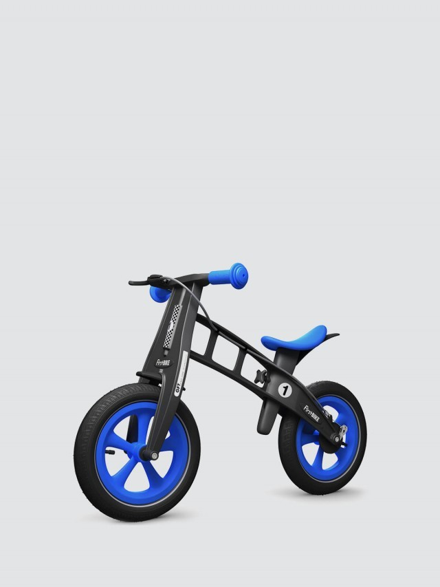 FirstBIKE 兒童滑步車 / 平衡車 - 黑金剛藍 / 附煞車