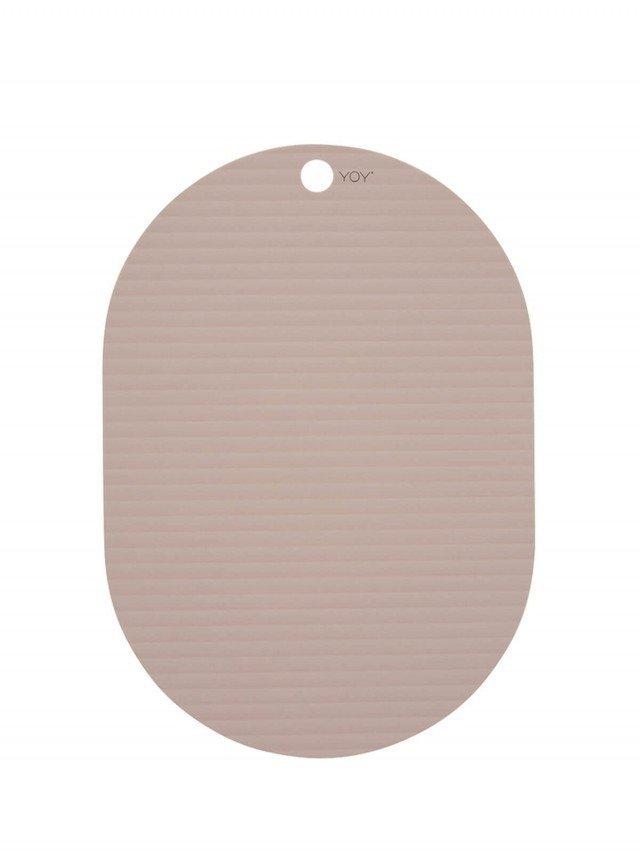 OYOY 橢圓形矽膠餐墊 - 玫瑰粉 ( 2入組 )