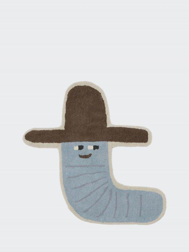 OYOY 造型手工羊毛地毯 - 活力牛仔