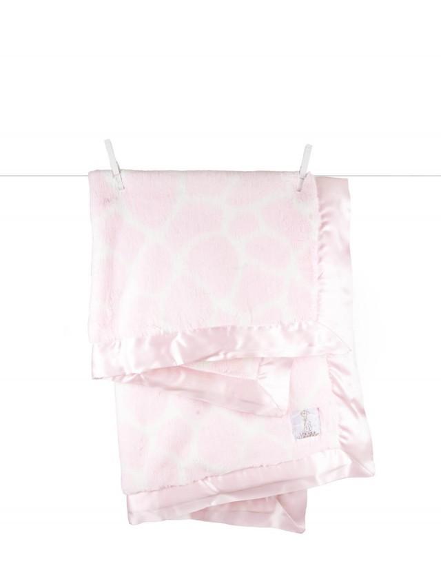 Little Giraffe 豪華長頸鹿紋嬰兒毯 - 粉色