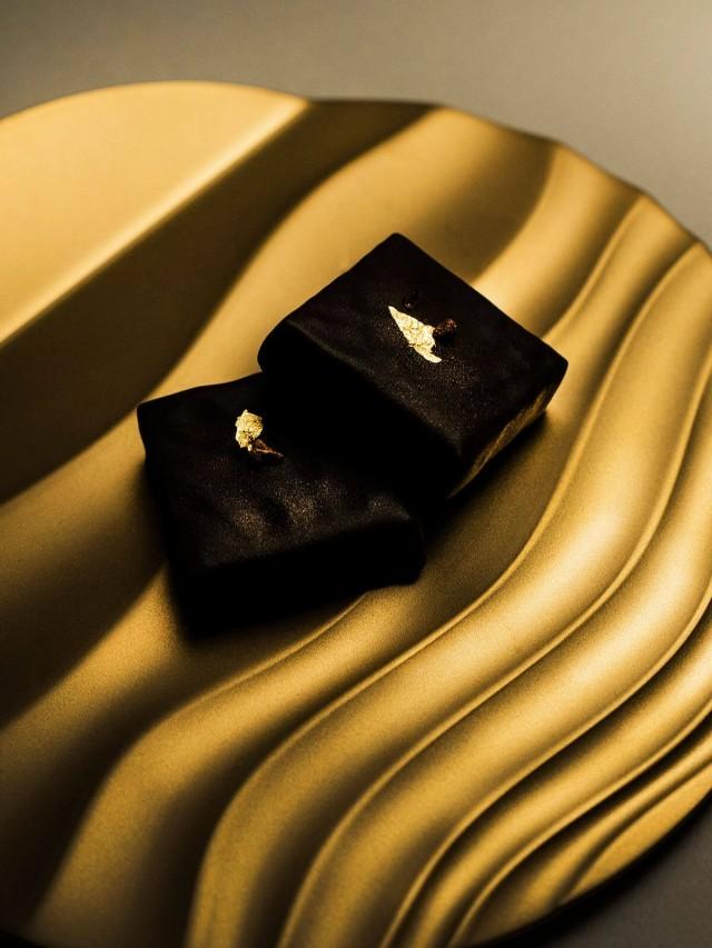 DOUXTEEL Shimmer Platter 月涼如水點心盤 - 霧金