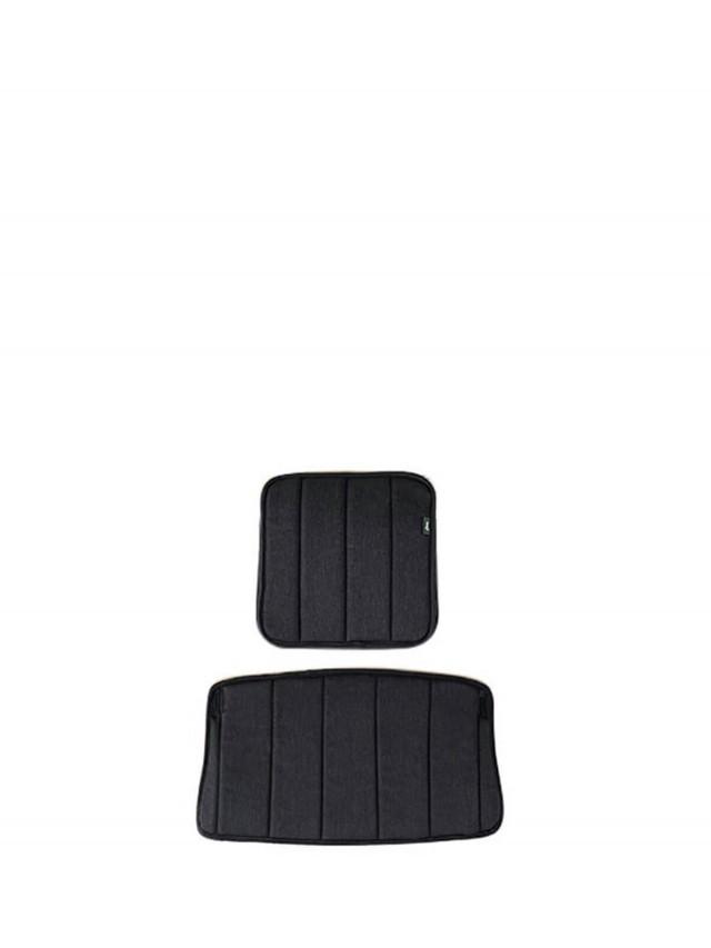 moji 全成長型原木高腳椅 - 背靠椅墊組 ( 尊爵灰 )