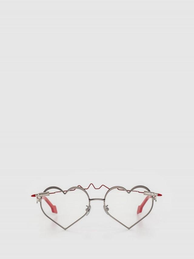 WHATEVER EYEWEAR Heartbeat 子彈穿心眼鏡 / 黑框透明鏡片