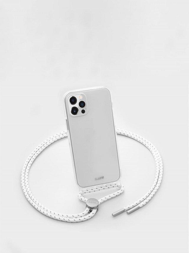 LAUT CRYSTAL - X 系列 繩索背帶手機殼 - 透明 ( iPhone 12 series )