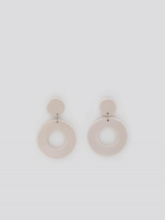 LEVENS 耳環 XL WHITE EARRINGS x 乳白色