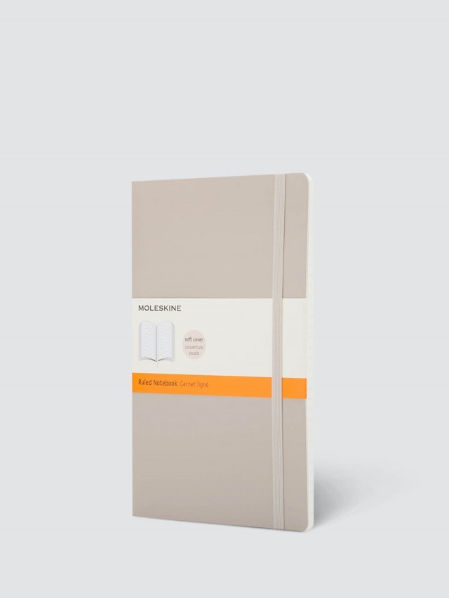 MOLESKINE 經典卡其色軟皮筆記本 - L 型 / 橫線
