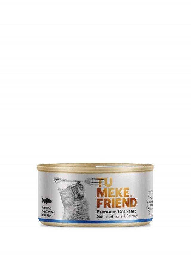 TU MEKE FRIEND 圖米其 頂級純淨主食貓罐 - 鮪魚 & 鮭魚 - 4 入