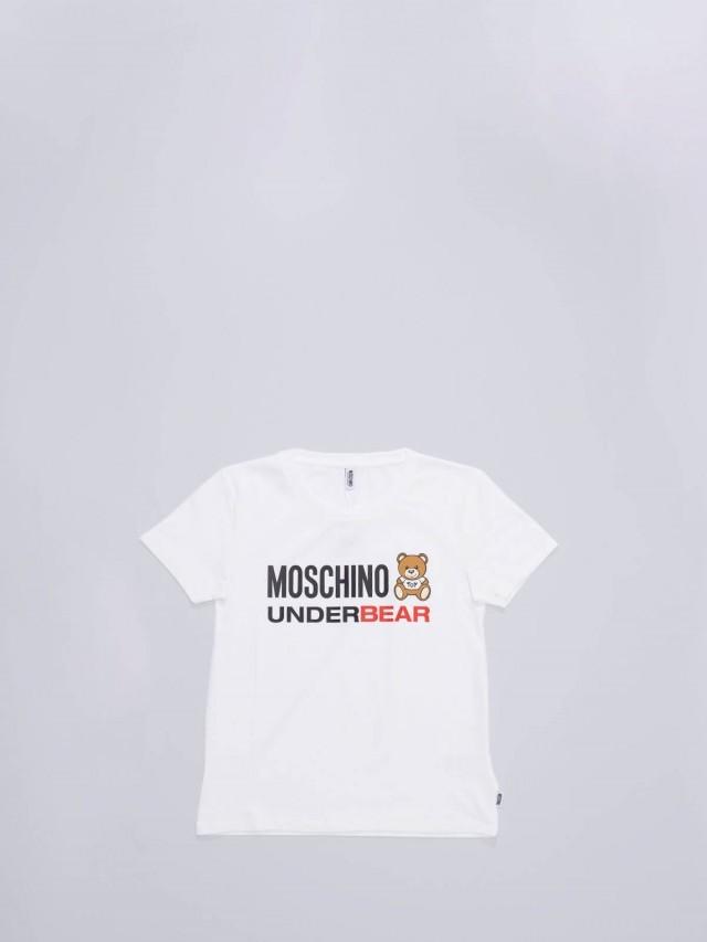 MOSCHINO UNDERBEAR T-SHIRT 玩具熊女款 T x 白色