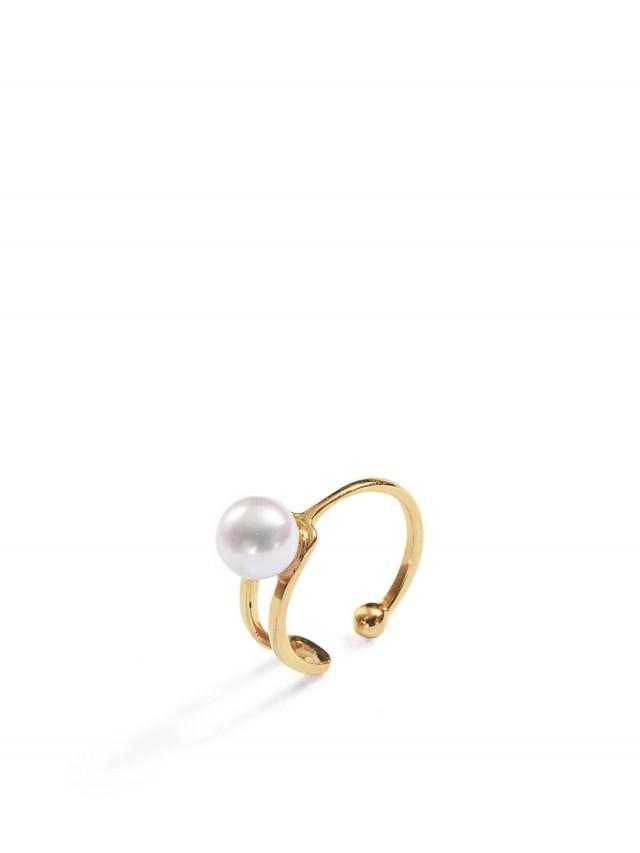 ARTISMI Button 系列 | 珍珠耳扣 | Yellow Gold Mini -  18K Gold Vermeil