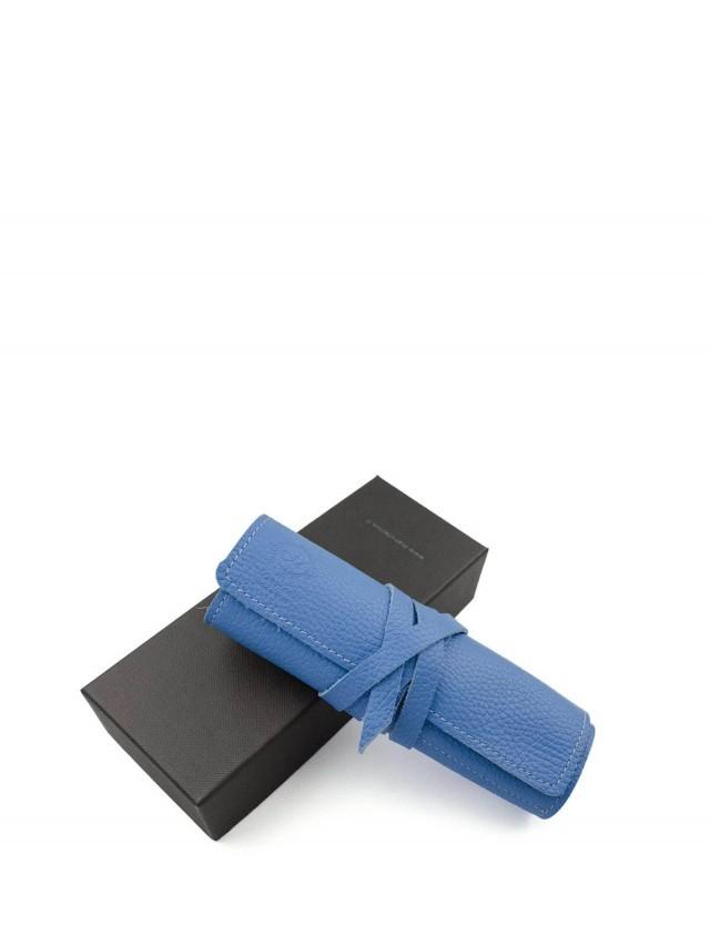 Manufactus 義大利真皮筆袋 - 鈷藍色