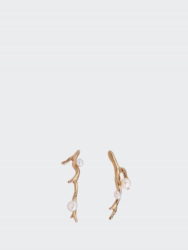 OLIVIA YAO JEWELLERY 耳環 ROUGH LAURIER EARRINGS