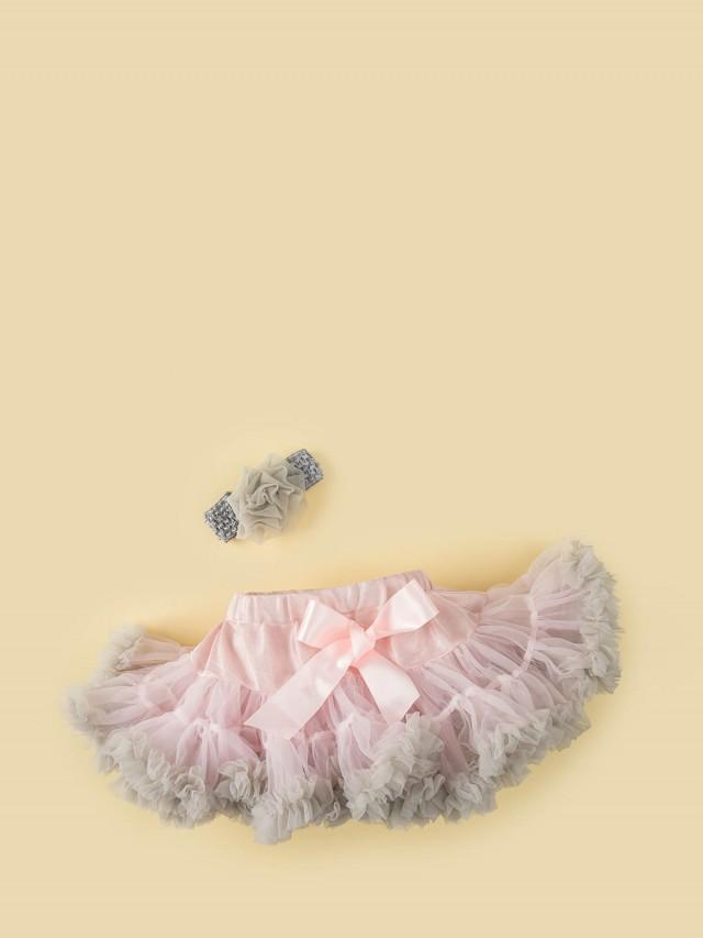 日安朵朵 女嬰童雪紡蓬蓬裙 - 粉霧芭蕾
