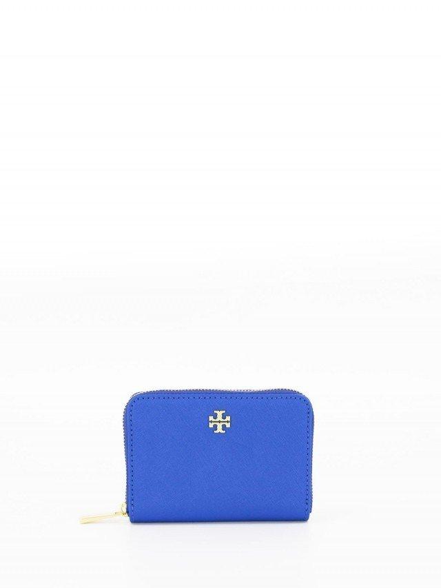 Tory Burch Tory Burch 海軍藍色防刮 ㄇ 型零錢包