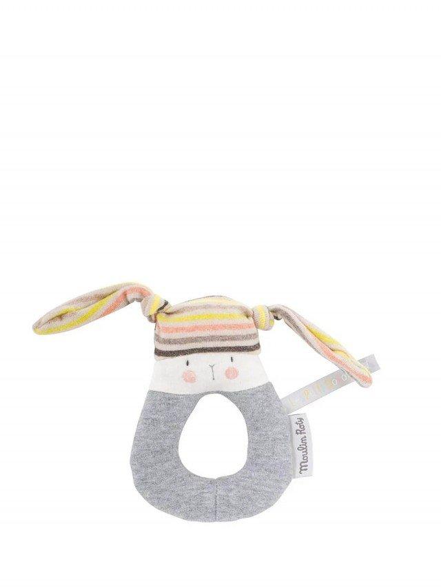 Moulin Roty Les Petits Dodos 條紋兔子娃娃 13 cm