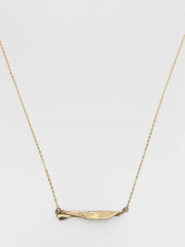 INTZUITION Origamini Fish 小摺學 Brass 手工黃銅項鍊 necklace