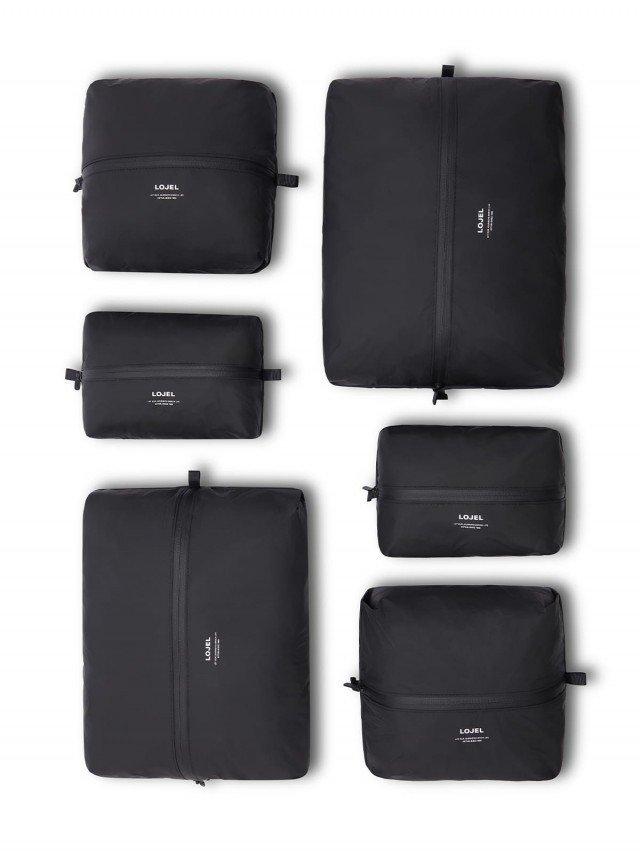 LOJEL Slash 衣物收納袋 ( 6 入裝 ) - 黑色