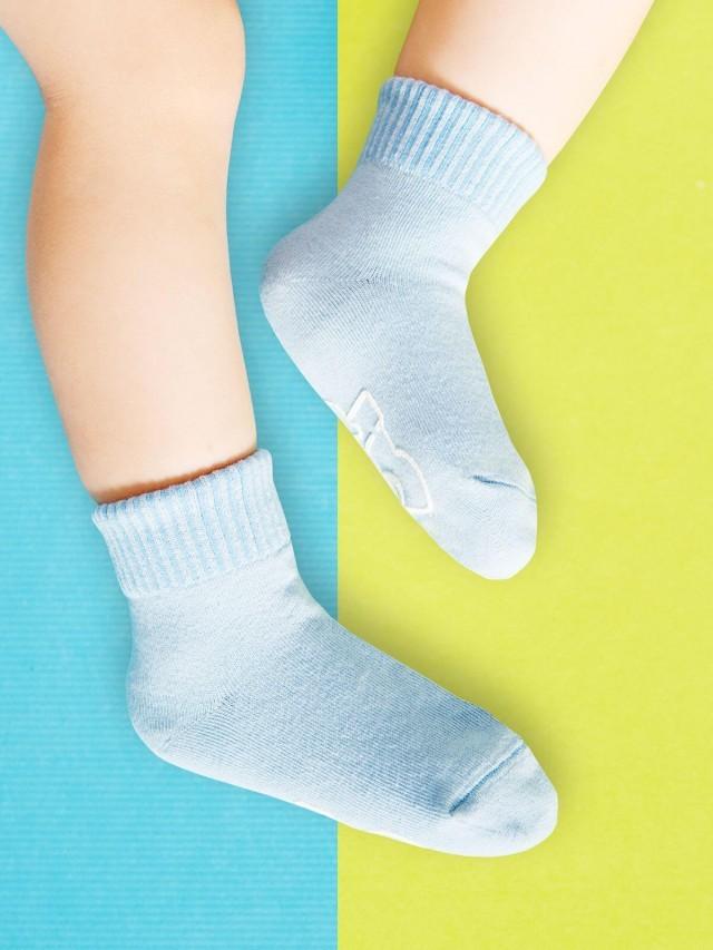 sokker 馬卡龍防滑 2 分之 1 童襪 - 海洋藍