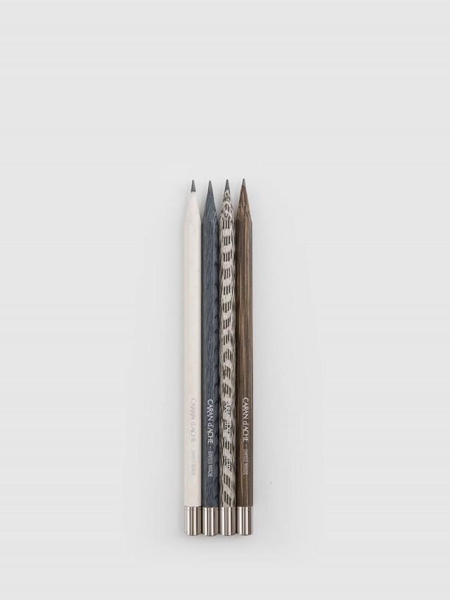 CARAN D'ACHE 卡達鍍鈀限量鉛筆木盒組