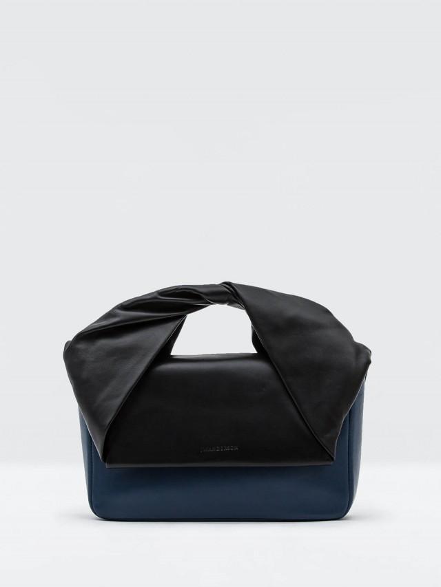 J.W.ANDERSON TWIST BAG 創意扭結手提包 - 黑 x 藍