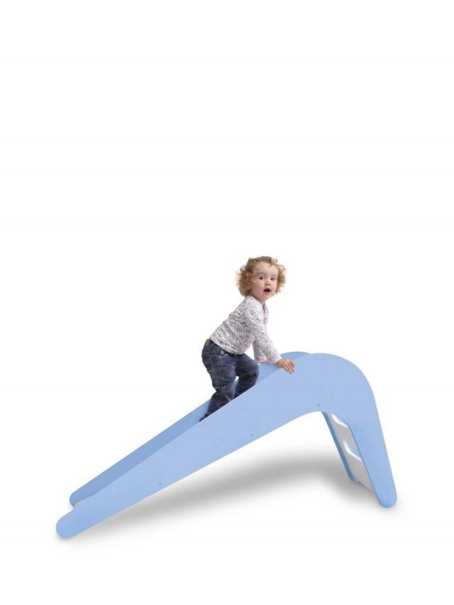 Jupiduu 頂級木製溜滑梯 - 藍色