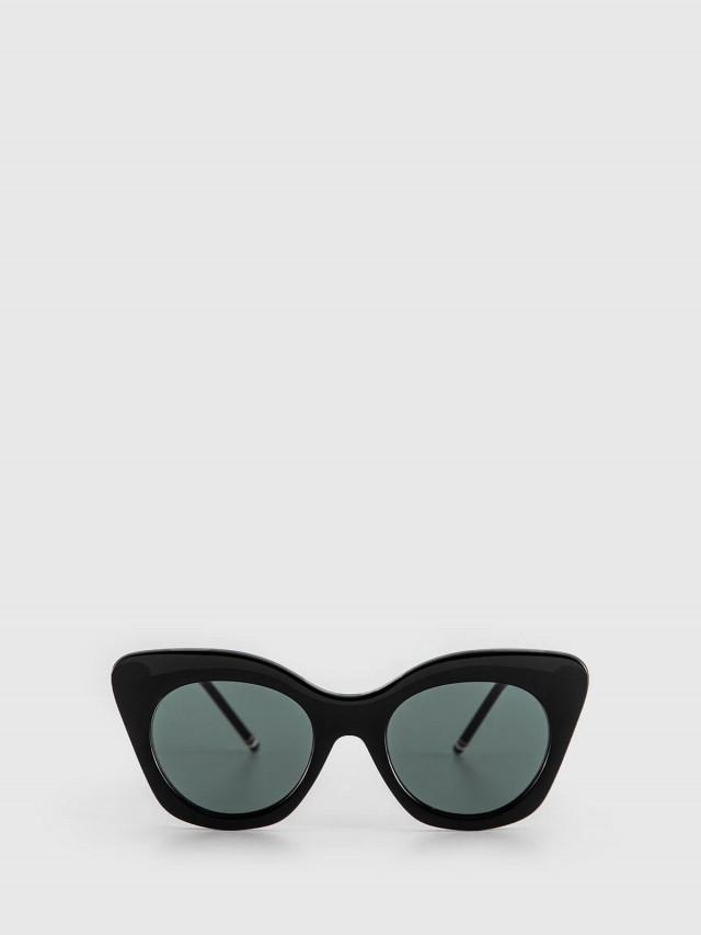 THOM BROWNE 黑色膠框太陽眼鏡