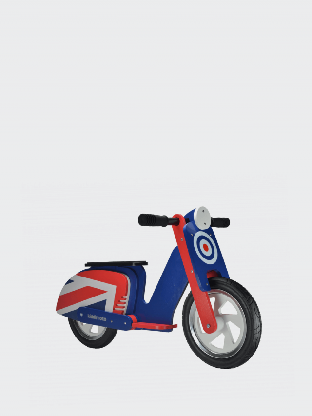 kiddimoto 木製經典偉士牌平衡車 - 英國國旗