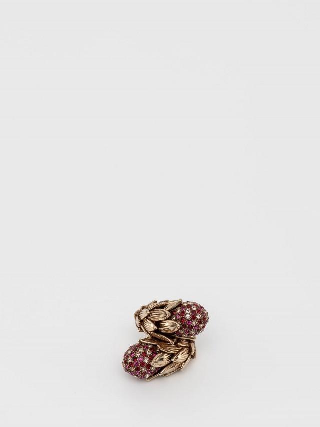 roberto cavalli 義式紅鑽玉蜀黍戒指