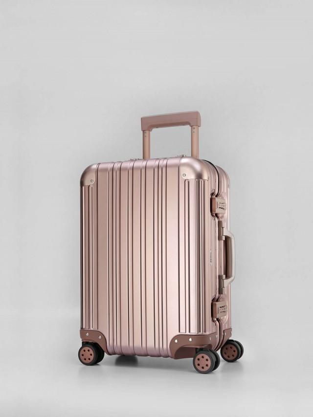 Swiss Style 極緻奢華鋁鎂合金行李箱 - 20 吋 / 玫瑰金