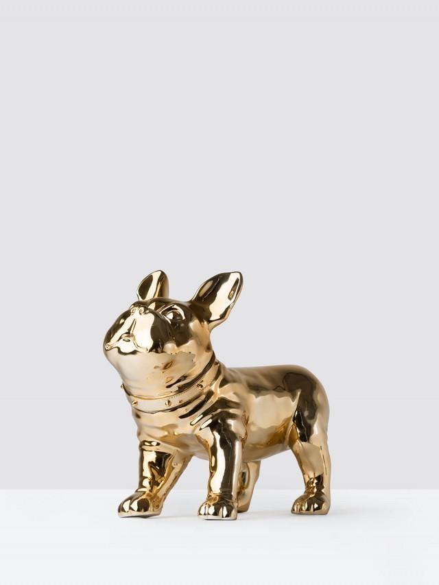 iEgoArt 鬥牛犬裝飾 - 金