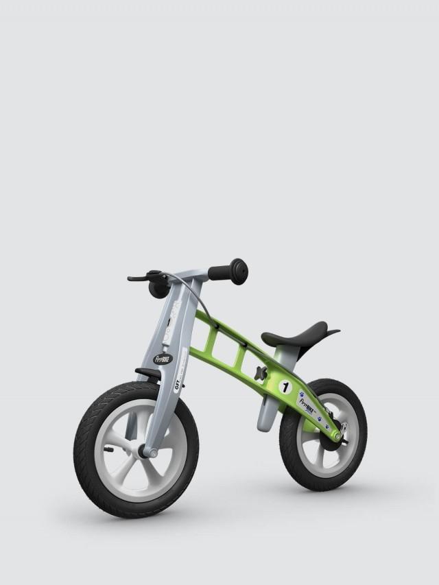 FirstBIKE 兒童滑步車 / 平衡車 - 街頭青蘋綠 / 附煞車